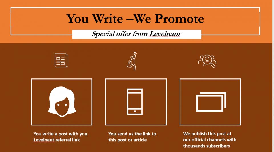 Interesting offer for levelnaut partners https://levelnaut.com/you-write-we-promote/
