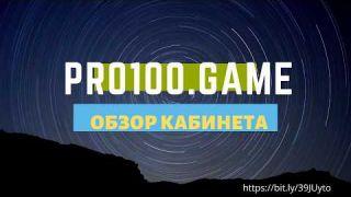 Обзор кабинета Pro100.game