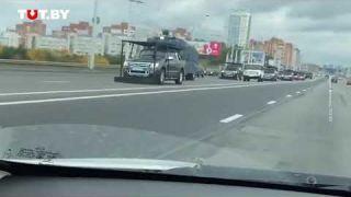 Колонна СПЕЦТЕХНИКИ В Минске