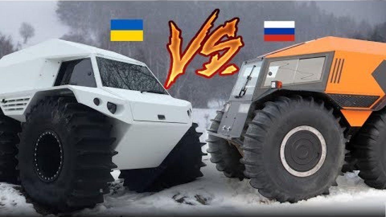 Шерп (Россия) vs Thor (Украина). Крутая спецтехника в действии!