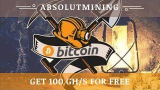 AbsolutMining.com отзывы 2020, обзор, Bitcoin Mining, free 100 GHs bonus