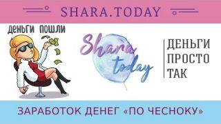SHARA.TODAY отзывы 2019, обзор, рублевый кран, заработок денег «ПО ЧЕСНОКУ»