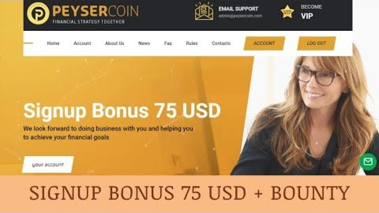 Peysercoin Limited отзывы 2019, обзор, investment services, Signup Bonus 75 USD + BOUNTY