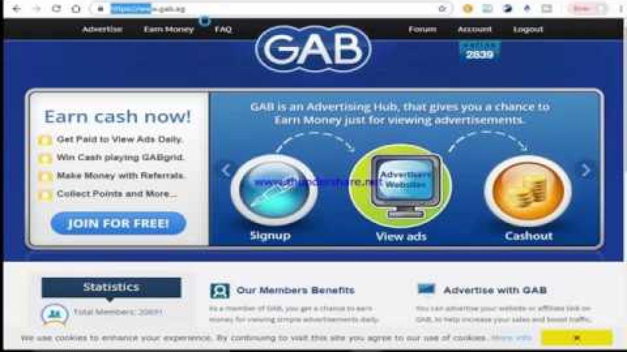 GAB-  https://www.gab.ag/?ref=Sanya65 Зарубежный сайт для заработка.