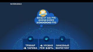 PAYEER BONUS Вход от 11 рублей! Доход более 100 000 рублей!